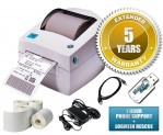 Zebra LP2844 Thermal Label Printer Bundle