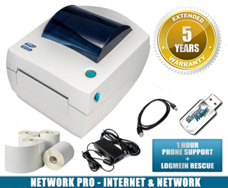 zebra lp2844 network pro thermal barcode label printer