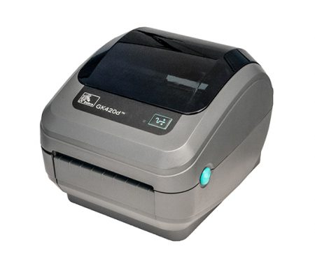 Zebra GK-420D Thermal Label Printer GK420D + Driver & Manual