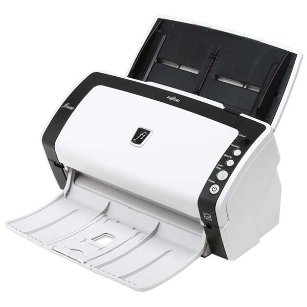 Fujitsu fi-6130 document scanner + driver & manual thermal.