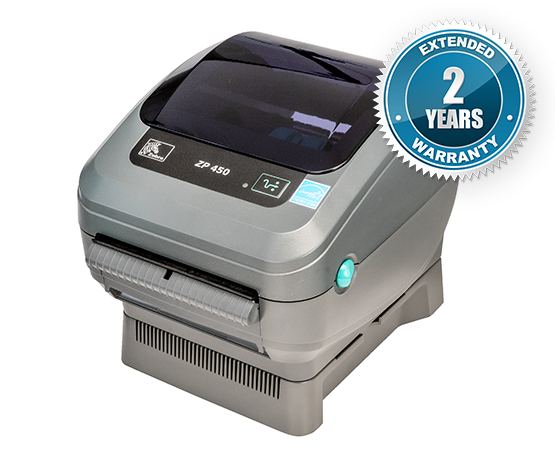 Zebra ZP-450 Thermal Label Printer ZP450 + Driver & Manual