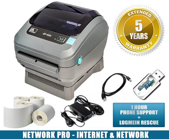 Zebra ZP-450 Thermal Label Printer Pro Network