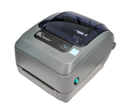 Zebra GK-420T Thermal Label Printer GK420T + Driver & Manual