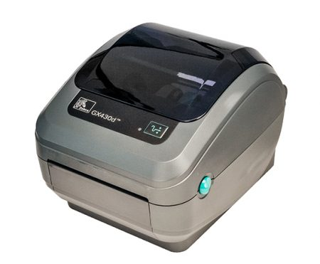 Zebra GX-430D Thermal Label Printer GX430D + Driver & Manual